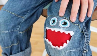 Toppe per i Jeans dei bambini!   Rammendo creativo per rattoppare jeans e magliette strappati...