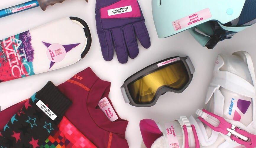 Étiquettes personnalisée pour les camps de ski